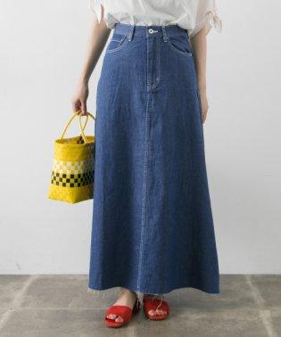 【UR】綿麻デニムAラインスカート