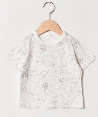 動物総柄プリントTシャツ