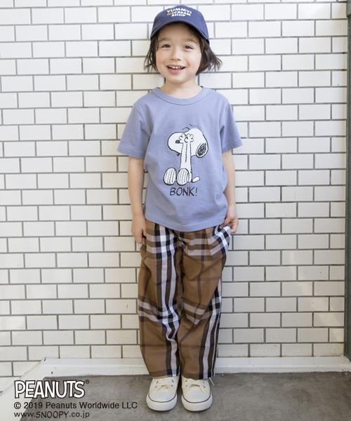 PEANUTSコラボスヌーピープリントTシャツ
