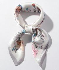 花柄×リボンスカーフ(9R18-ST6369)