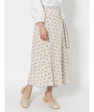 flowerパイピングラップスカート