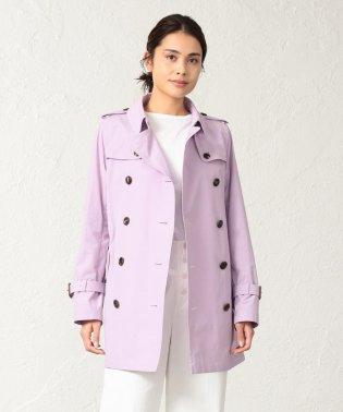 ◆◆<Spring Coat>コットンソロタッサーショートトレンチコート