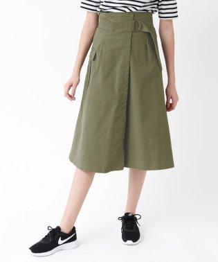 ポケット付きミリタリーラップスカート