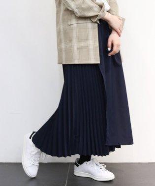 フロントラップバックプリーツスカート◆