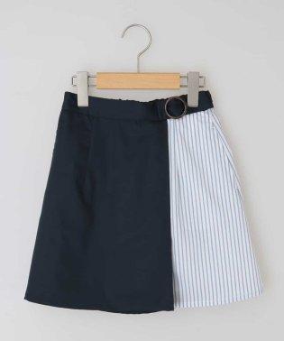 [100-130]ミックスストライプスカート[WEB限定サイズ]