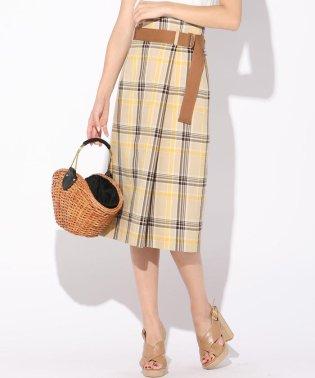 カラーチェックタイトスカート