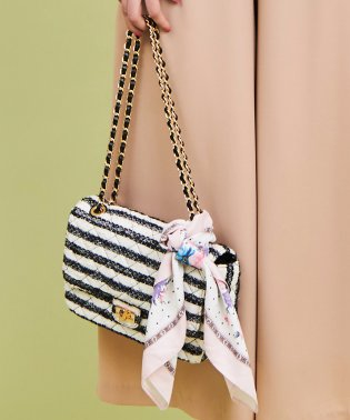 【美人百花4月号掲載】【10th Anniversary Item】スカーフ付キルティングバッグ