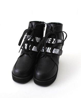 【ニコプチ掲載】合皮厚底スニーカーブーツ