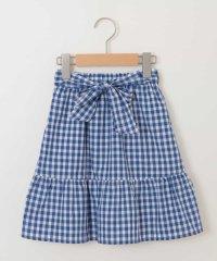 【イージーケア】[140-150]ギンガムチェックミディスカート