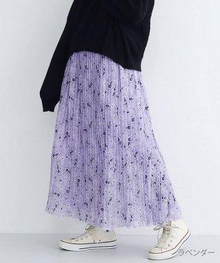 ペイズリーフラワー柄プリーツスカート