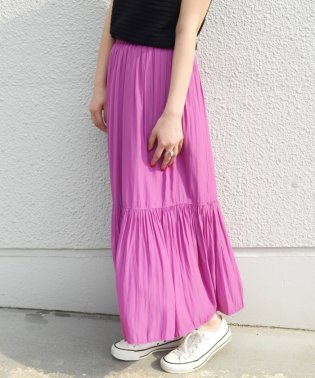 【SHIPS for women】WCO:TIERED MAXI SK