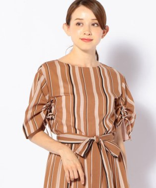 【SHIPS for women】(2127)WD:MULTI STR CTN BL