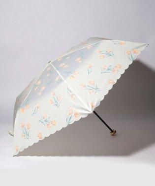 チューリップ柄晴雨兼用折りたたみ傘 雨傘