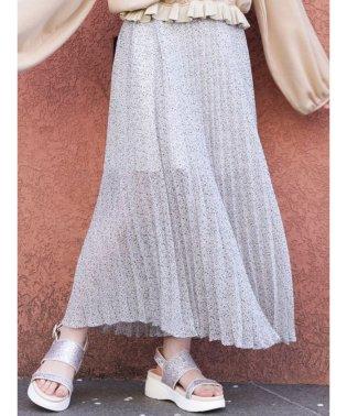【S】フラワープリーツスカート