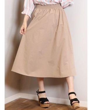 シャーリングギャザーロングスカート