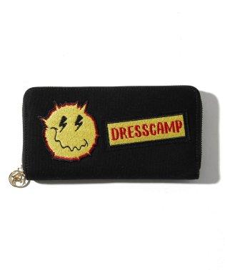 DRESSCAMP (ドレスキャンプ) ワッペン付ラウンドジップウォレット/長財布