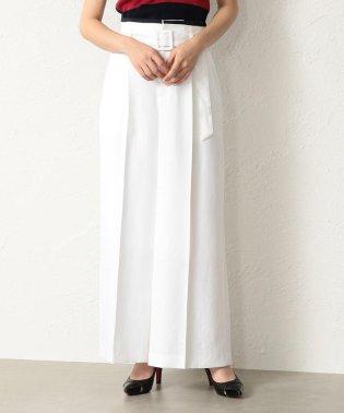 【TVドラマ着用】【LOVELESS】WOMEN リネンライク ホワイトワイドパンツ