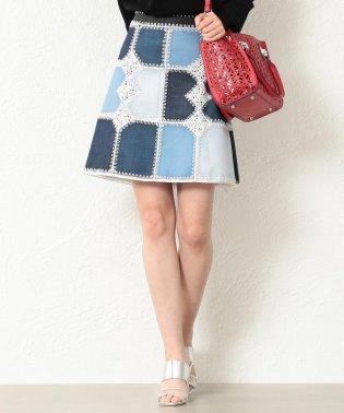 【LOVELESS】WOMEN カギバリ編 ブロッキングインディゴスカート