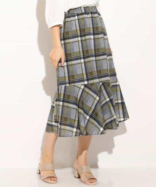 【大きいサイズ】チェックマーメイドスカート