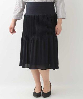 【大きいサイズ】シフォンプリーツスカート