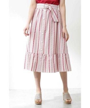 《EDIT COLOGNE》ランダムストライプスカート