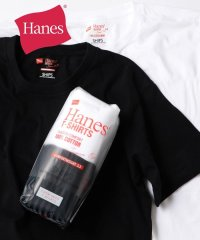 Hanes×SHIPS: 別注 NEW Japan Fit COMFORT WEIGHT 5.3 WHITE&BLACK/MIX PACK (2枚組)