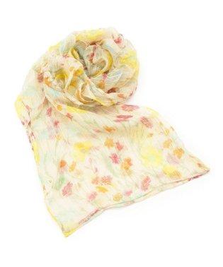 花柄プリントシャーリングスカーフ