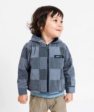 SHIPS KIDS:リバーシブル ジップアップ シャツ パーカー(80~90cm)
