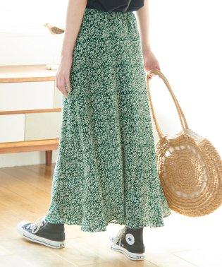 【WEB限定】【新色追加】プリーツフラワースカート