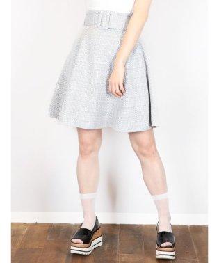 【E】スプリングツイードスカート