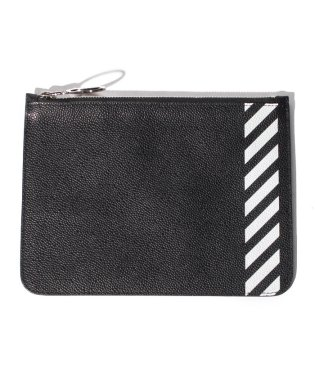 【OFFWHITE】DIAG FLAT POUCH