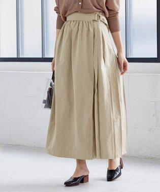 ウェザープリーツラップスカート