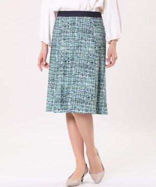 《INED international》ツイードフレアスカート《Viscotecs》