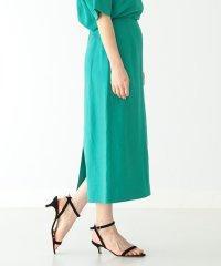 Demi-Luxe BEAMS / バックサテンスリットスカート