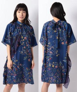 「Desigual/デシグアル」ボータイ付き花柄ドレス