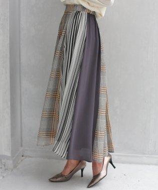 ストライプ×チェック3デザインスカート