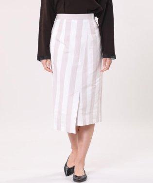 《Luftrobe》リネン混ストライプタイトスカート
