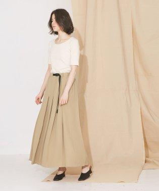 【MIHO NOJIRI × nano・universe】Gramicci/別注ジョーゼットタックロングスカート
