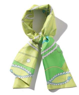 パネルプリント ショートスカーフ