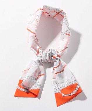 パネルプリントボイル ショートスカーフ