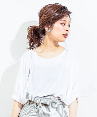【natural couture】前後2WAYゆるさらっカットソー