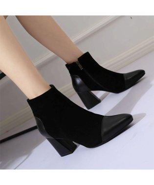 チュクラ chuclla 異素材 MIXデザイン ショートブーツ ブーツ ヒール 靴 厚底