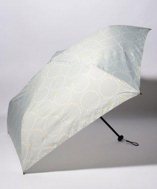 BE SUNNY ビーサニー スリム3段折りたたみ傘 サークルフラワー ポーチ付  (晴雨兼用 UVカット 紫外線カット 耐風 軽量 撥水)