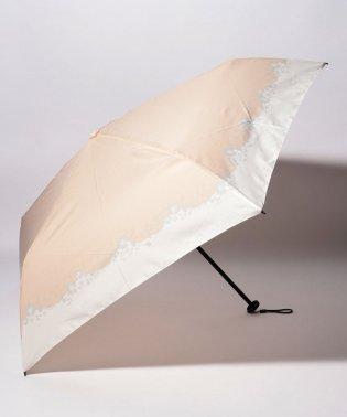 BE SUNNY ビーサニー スリム3段折りたたみ傘 フラワークラウン ポーチ付  (晴雨兼用 UVカット 紫外線カット 耐風 軽量 撥水)