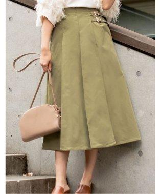ツイルサイドベルトラップスカート