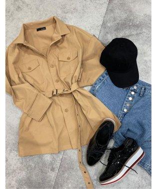 ツイルミリタリーシャツジャケット