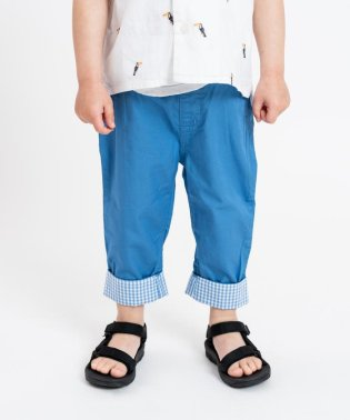 SHIPS KIDS:無地×ギンガム ベビー パンツ(80~90cm)