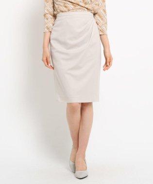【洗える】タックドレープストレッチタイトスカート