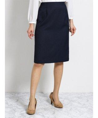 ハンドウォッシャブル セットアップタイトスカート 紺オックス