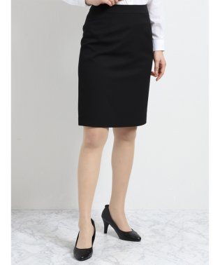 2WAYストレッチウォッシャブル セットアップタイトスカート 黒